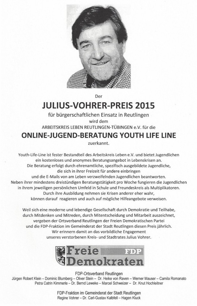 Julius-Vohrer-Preis 2015